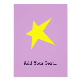 Big Star 14 Cm X 19 Cm Invitation Card