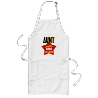 Big Star Custom Name AUNT Kitchen Rock Star V02B Long Apron