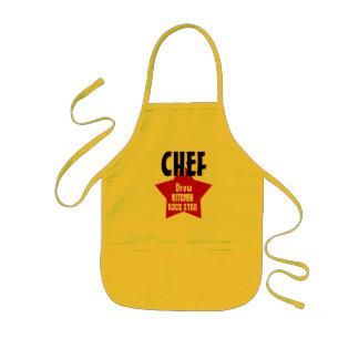 Big Star Custom Name CHEF Kitchen Rock Star V02A1 Kids Apron