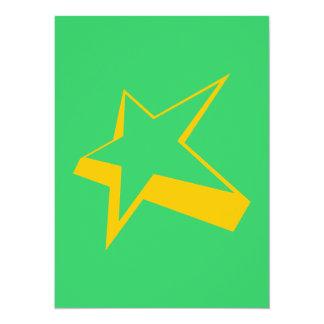 Big star outline 14 cm x 19 cm invitation card