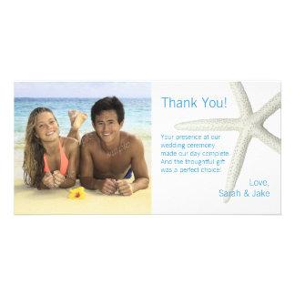 Big Starfish Custom Photo Wedding Thank You Card Photo Card Template