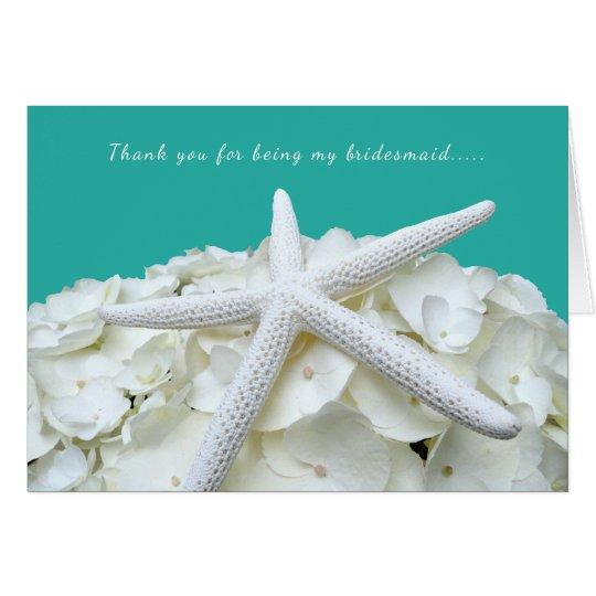 Big Starfish Thank You Bridesmaid Card