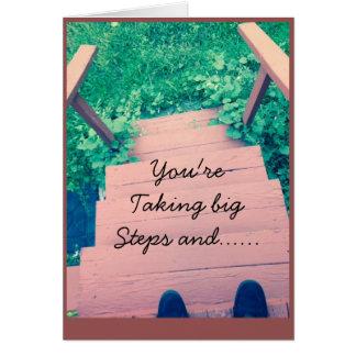 Big steps Graduation card