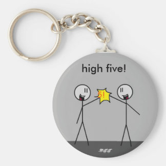 big stick high5, 5!, high five!, -DTT Key Ring