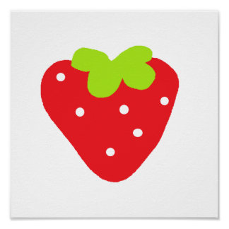 Big Strawberry Posters