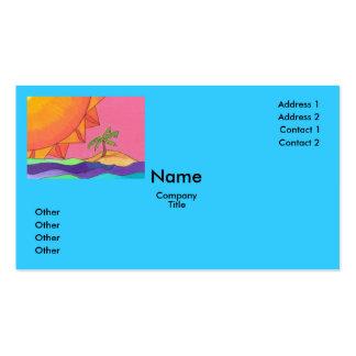 Big Sun Business Card Template