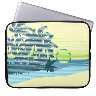 Big Sunset Hawaiian Neoprene Wetsuit Laptop Sleeve