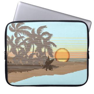Big Sunset Hawaiian Neoprene Wetsuit Laptop Sleeve