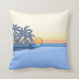 Big Sunset Hawaiian Reversible Square Pillows