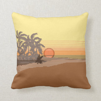 Big Sunset Hawaiian Reversible Square Pillows Throw Cushion