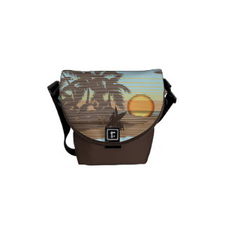 Big Sunset Hawaiian Rickshaw Mini Messenger Bag