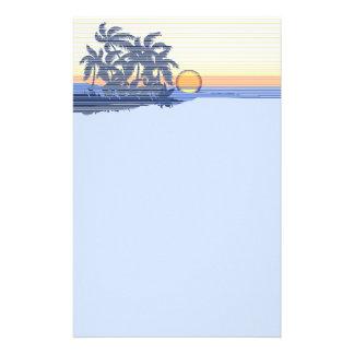Big Sunset Hawaiian Stationary Stationery Design