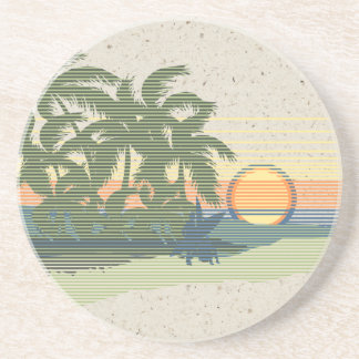 Big Sunset Hawaiian Tiki Bar Coasters