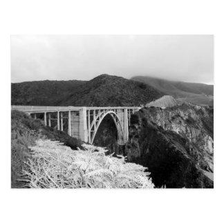 Big Sur Bridge Postcard Black & White