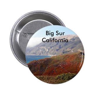 Big Sur, California landscape 6 Cm Round Badge