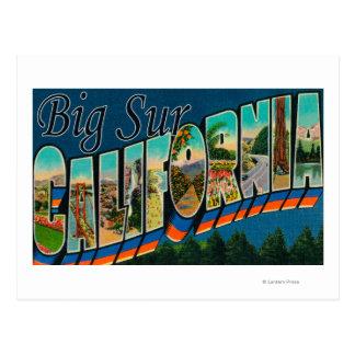 Big Sur, California - Large Letter Scenes Postcard