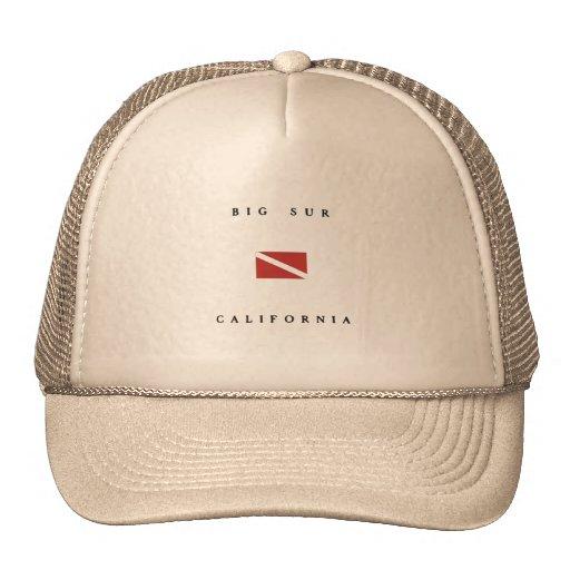 Big Sur California Scuba Dive Flag Trucker Hats