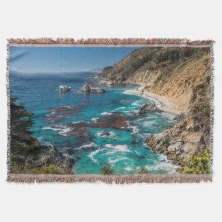 Big Sur Coastline,West Coast,Pacific Coast Throw Blanket