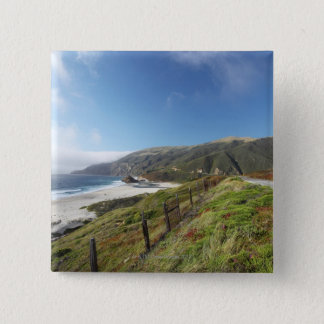 Big Sur perfection where the mountains roll 15 Cm Square Badge