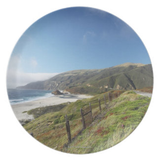 Big Sur perfection where the mountains roll Plate
