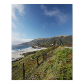 Big Sur perfection where the mountains roll Poster
