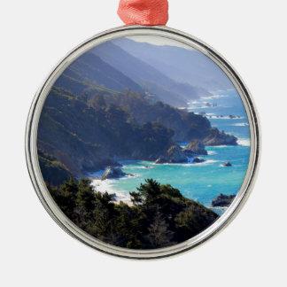 Big Sur Silver-Colored Round Decoration