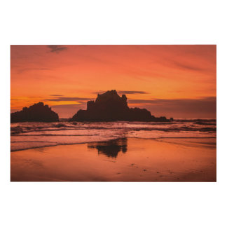 Big Sur Sunset Wood Wall Decor
