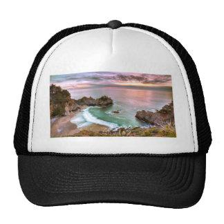Big Sur Waterfall Sunset Hats