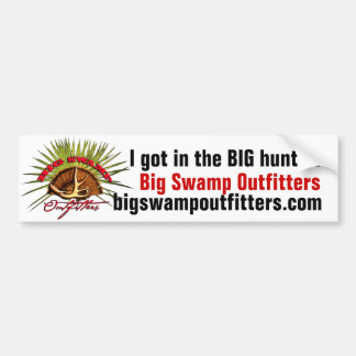Big Swamp Bumper Sticker