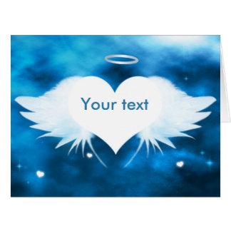 """Big Sympathy Card 11"""" x 8.5"""" - Angel of the Heart"""