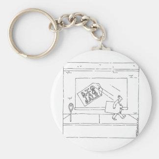 big tag sale basic round button key ring