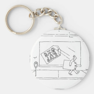 big tag sale basic round button key ring