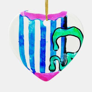 big tea cup ceramic heart decoration