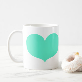 Big Teal Heart Mug