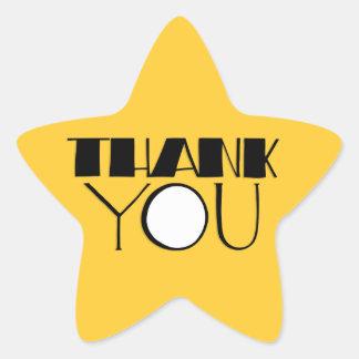 Big Thank You black Star Sticker
