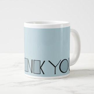 Big Thank You blue Jumbo Mug