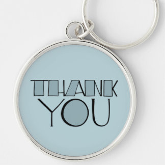 Big Thank You blue Keychain
