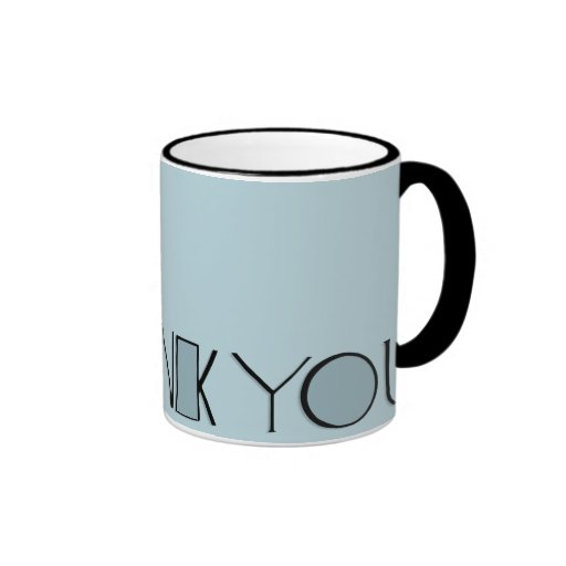 Big Thank You blue Mug