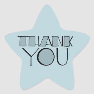 Big Thank You blue Star Sticker