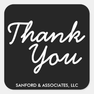 Big Thank You in cursive business etiquette Square Sticker
