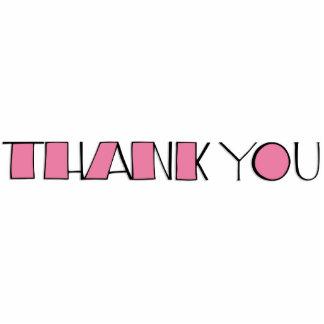 Big Thank You pink Sculpture Photo Sculpture