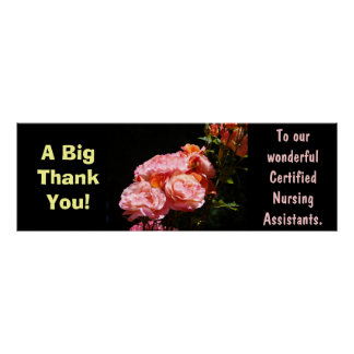 Big Thank you poster Certified Nursing Assistants