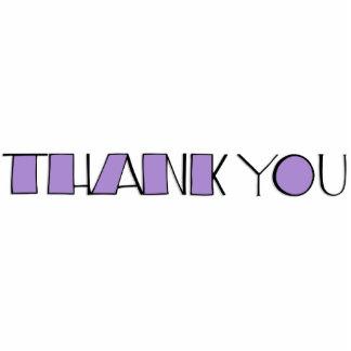 Big Thank You purple Sculpture Cut Out