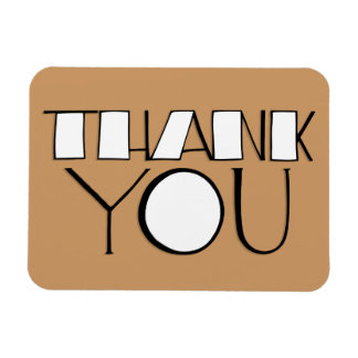 Big Thank You white Premium Magnet