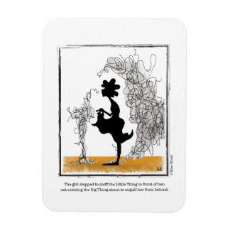 BIG THING cartoon by Ellen Elliott Rectangular Photo Magnet