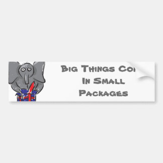 Big Things Come In Small Packages Bumper Sticker