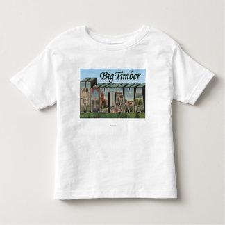 Big Timber, Montana - Large Letter Scenes Toddler T-Shirt
