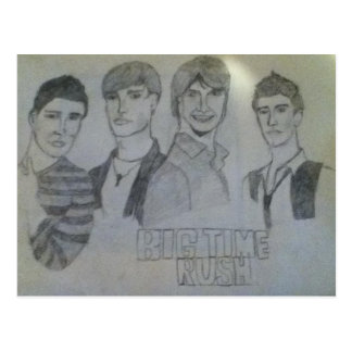 Big time Rush post card