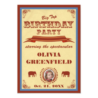Big Top Birthday Party Invitation