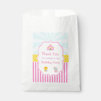 Big Top Circus Carnival in Pink Favour Bags